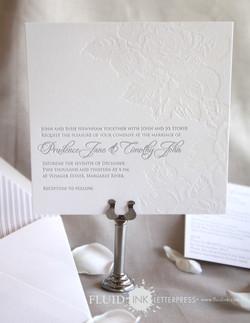 Rose Garden Letterpress invitation 4