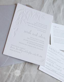 letterpress wedding invitation Perth