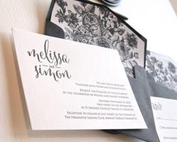 monochrome letterpress wedding2