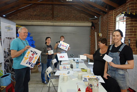 Letterpress workshop Perth Happy guests!