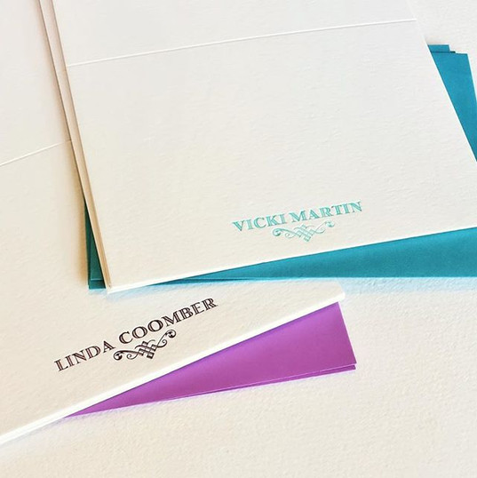 Customised note card ideas