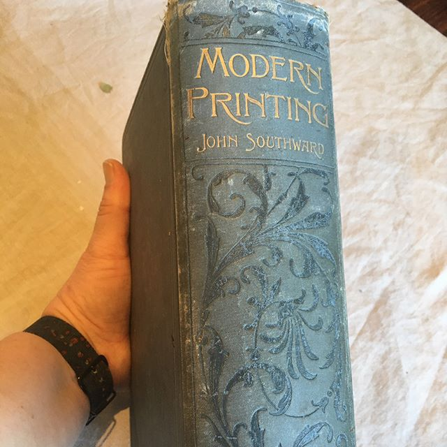 Look at this beautiful piece of history! Letterpress printed in 1900 London. All about 'modern printing ' some pages of note here