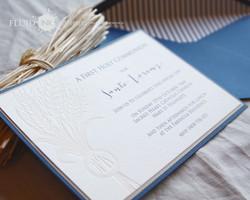 First Communion letterpress invite