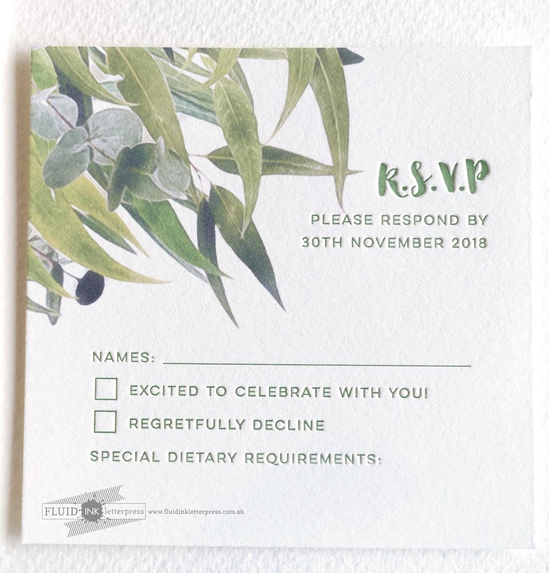 Australian wedding invitation suite