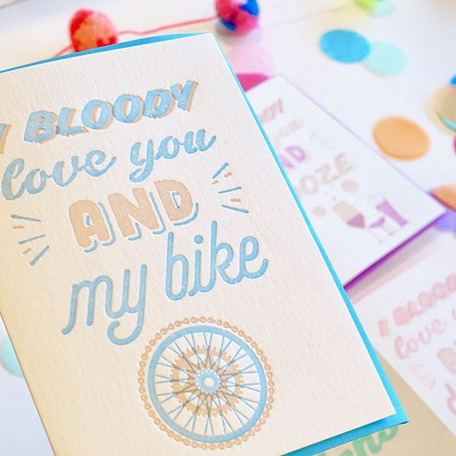 I bloody love you 😘 Card for him, Father's Day Card, Cycling, Bike, card for cyclist, love card, bicycle love, I bloody love you, confetti,_