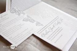 Rose Garden Letterpress invitation 5