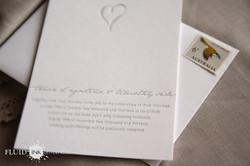 Simple silver heart wedding