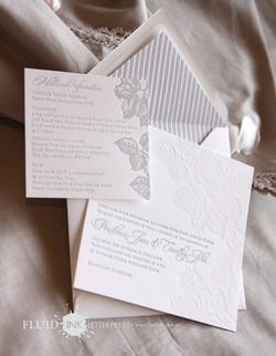 Rose Garden Letterpress invitation 2