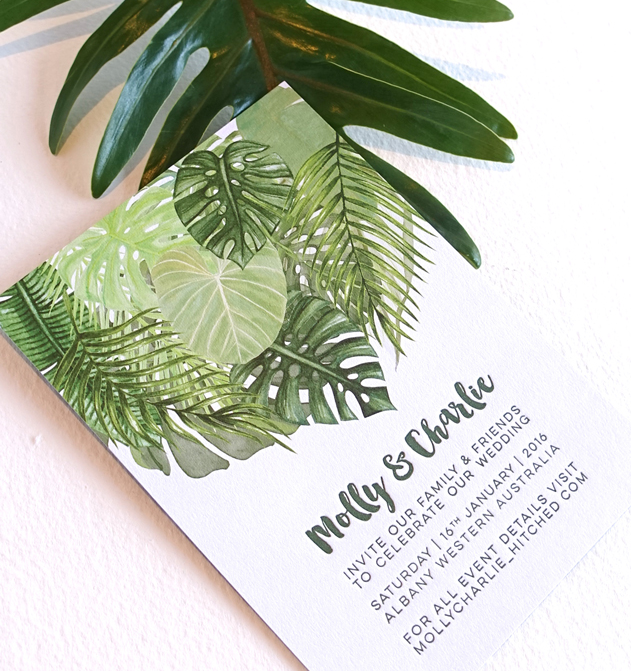 Tropical palm invitation