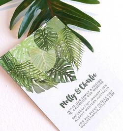 Tropical palm invitation