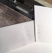 Custom note cards and envelopes again on classic white on white including some flourish pieces