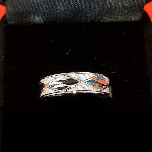 Mens 925 Sterling Silver Wedding Band (ABDMWB007)
