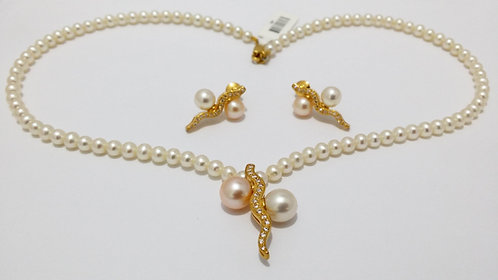 22ct Gold Pearl Set (NCNK035)