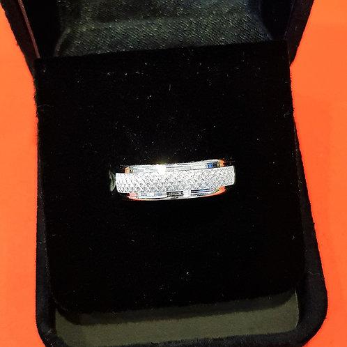 Mens 925 Sterling Silver Wedding Band (ABDSWB002)