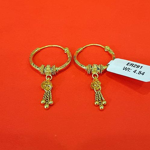 22ct Gold Hoops/Bali (ER291)