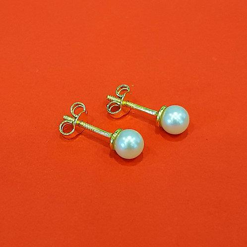 22K Gold Pearl Studs (5mm)