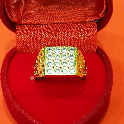 MEN'S 22CT GOLD CZ RING (ABDMR001)
