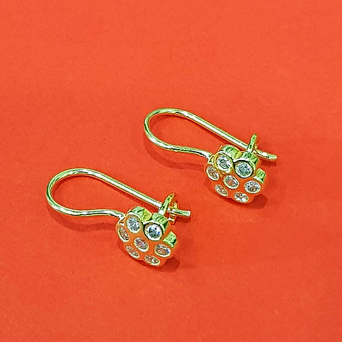 22CT GOLD CZ HOOK EARRINGS