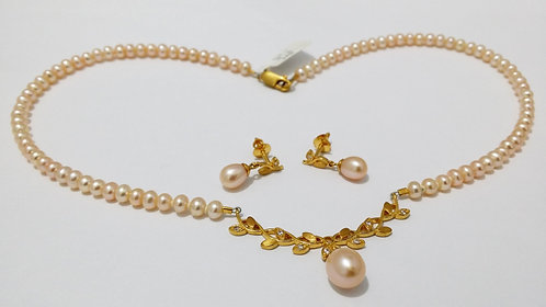 22ct Gold Pearl Set (NCNK017)