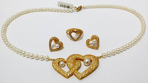 22ct Gold Pearl Set (NCNK015)