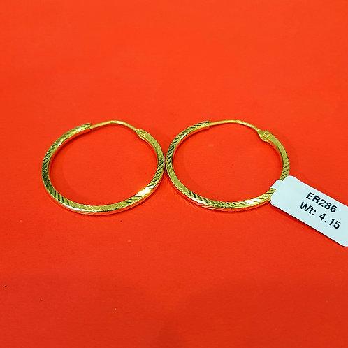 22ct Gold Hoops/Bali (ER286)