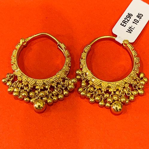 22ct Gold Hoops/Earrings (ER296)