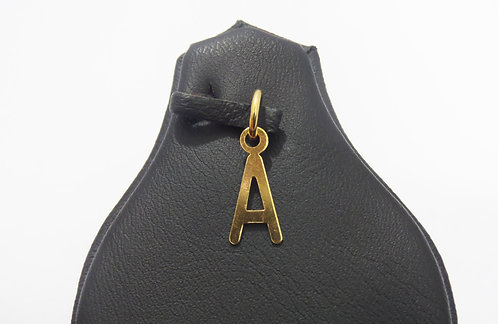 22ct Gold 'A' Pendant