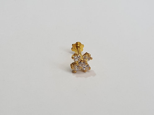 22ct Gold CZ Nose stud (NS006)