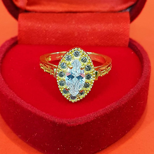 22CT MARQUISE CZ GOLD ENGAGEMENT RING