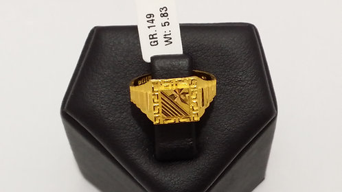 22ct Mens Gold Ring (GR149)