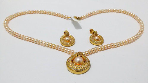 22ct Gold Pearl Set (NCNK034)
