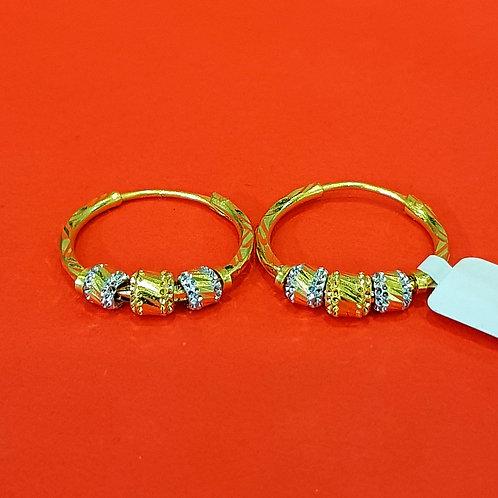 22ct Gold Hoops/Bali (ER283)