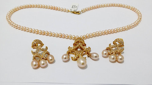 22ct Gold Pearl Set (NCNK009)