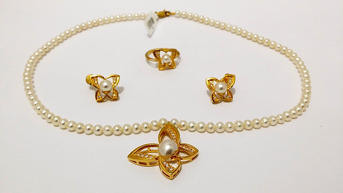 22ct Gold Pearl Set (NCNK020)