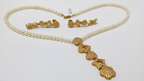 22ct Gold Pearl Set (NCNK019)