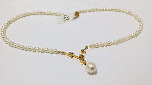 22ct Gold Pearl Necklace (NCNK040)