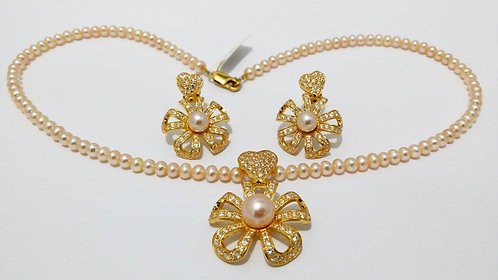 22ct Gold Pearl Set (NCNK008)