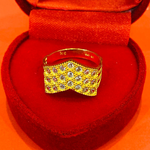22ct Gold CZ Ring (GR618)