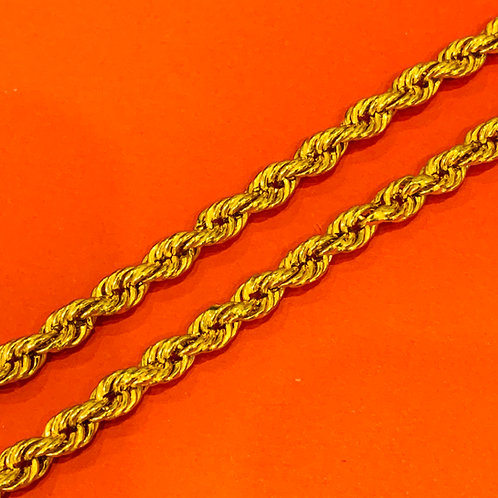 22ct Gold Rope Chain (CH334)