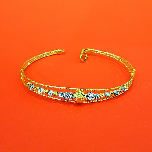 22CT GOLD DIAMOND CUT BRACELET (BR167)