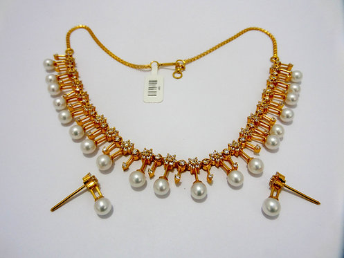 22ct Gold Pearl Set (NCNK001)
