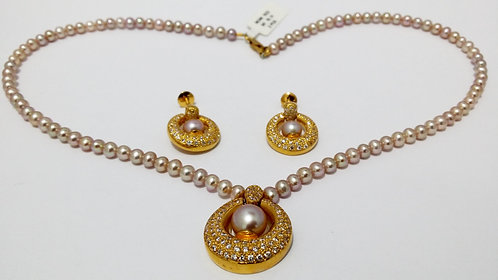 22ct Gold Pearl Set (NCNK1023)