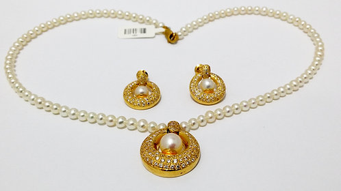 22ct Gold Pearl Set (NCNK032)