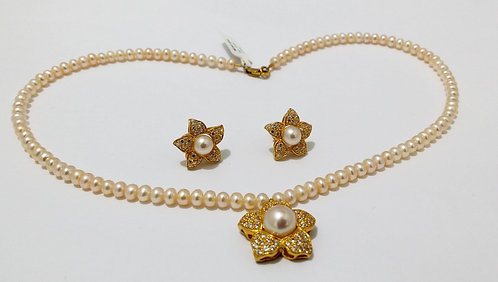 22ct Gold Pearl Set (NCNK1006)
