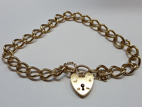 Pre-owned Ladies 9ct/375 Gold Bracelet