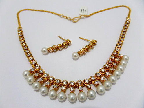 22ct Gold Pearl Set (NCNK042)