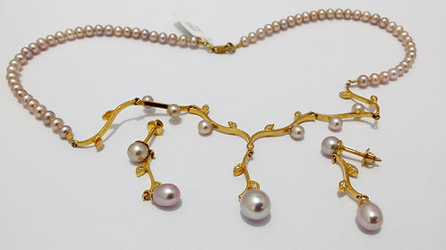 22ct Gold Pearl Set (NCNK028)