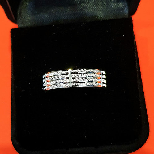 Men's 925 Sterling Silver Wedding Band (ABDMWB001)