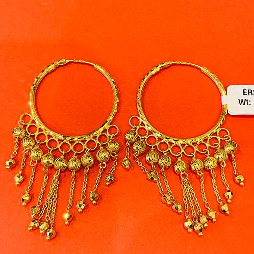22ct Gold Hoops/Earrings (ER297)