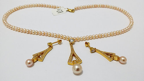 22ct Gold Pearl Set (NCNK024)